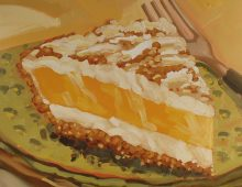 Lemon Pie on Green
