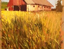 Yellow Field with Red